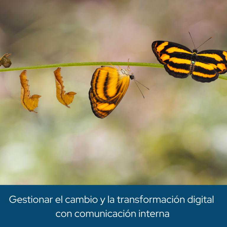 Gestionar el cambio y la transformación digital con comunicación interna